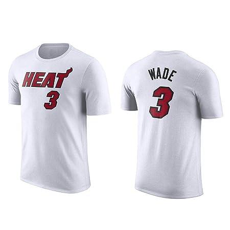 YANHAI NBA Dwyane Wade # 3 Camiseta Cuello Redondo Manga Corta ...