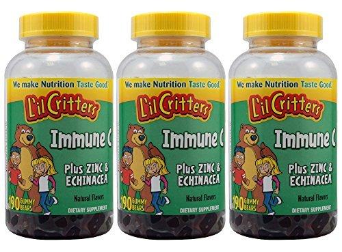 L'il Critters Immune C Plus Zinc and Echinacea Gummy Bears, 190 Count, 3 Pack