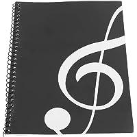 Cuaderno en blanco, composición musical, papel de música de notación musical, cuaderno de música,(Black musical note…