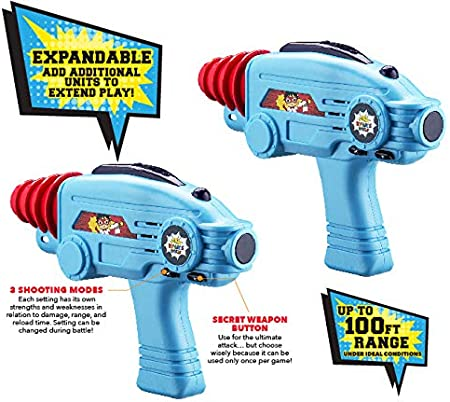 Ryans World Laser-Tag for Kids Infared Lazer-Tag Blasters Lights Up /& Vibrates When Hit