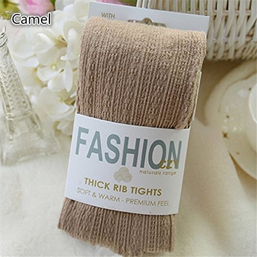 Corrugated Twist - Rurah Corrugated Twist Knit Elastic Thin Warm Leggings Stockings Style Tights Socks,purple,Khaki