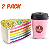 WATINC Jumbo 2pcs Squishies coffee cup&Rainbow cake...