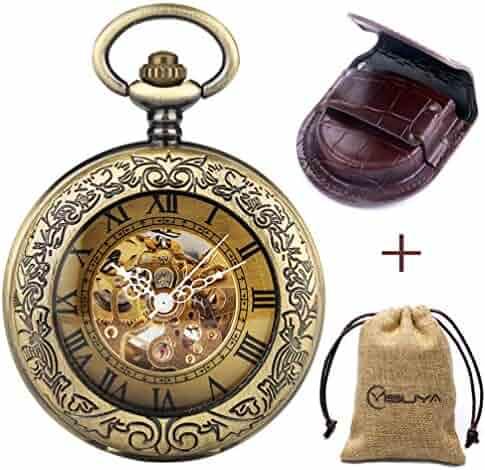 Retro Bronze Automatic Mechanical Pocket Watch (Bronze)