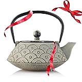 Empress Of China Cast Iron Teapot - Temperature Retaining Cast Iron Kettle - Teapot With Infuser - Tea Kettle - Resveralife Vintage Chinese Tea Pot Handiwork