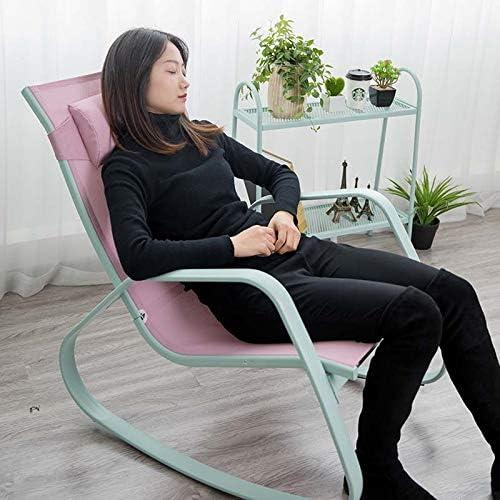 Y&MoD Fauteuil Relax Fauteuil à Bascule,Chaise berçante avecOreiller.Capacité de Charge 120 kg,Structure en Métal pour Le Salon Balcon Chambre