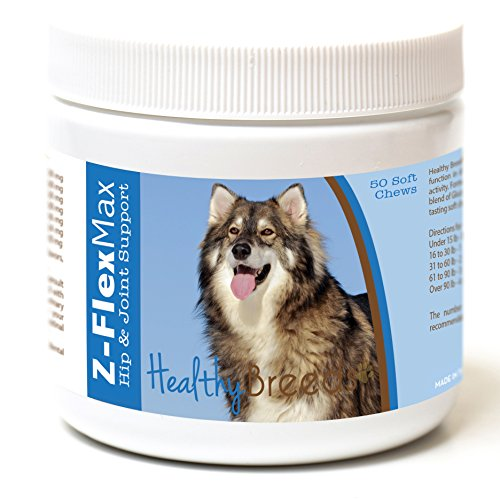 Healthy Breeds Z Flex Max Hip & Joint Supplement Soft Chews for Utonagan - OVER 100 BREEDS - Medium & Large Breed Formula - 50 Count