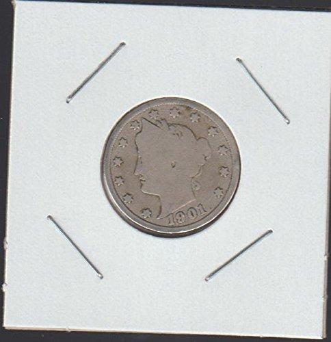 1901 Liberty Head Nickel Very Fine