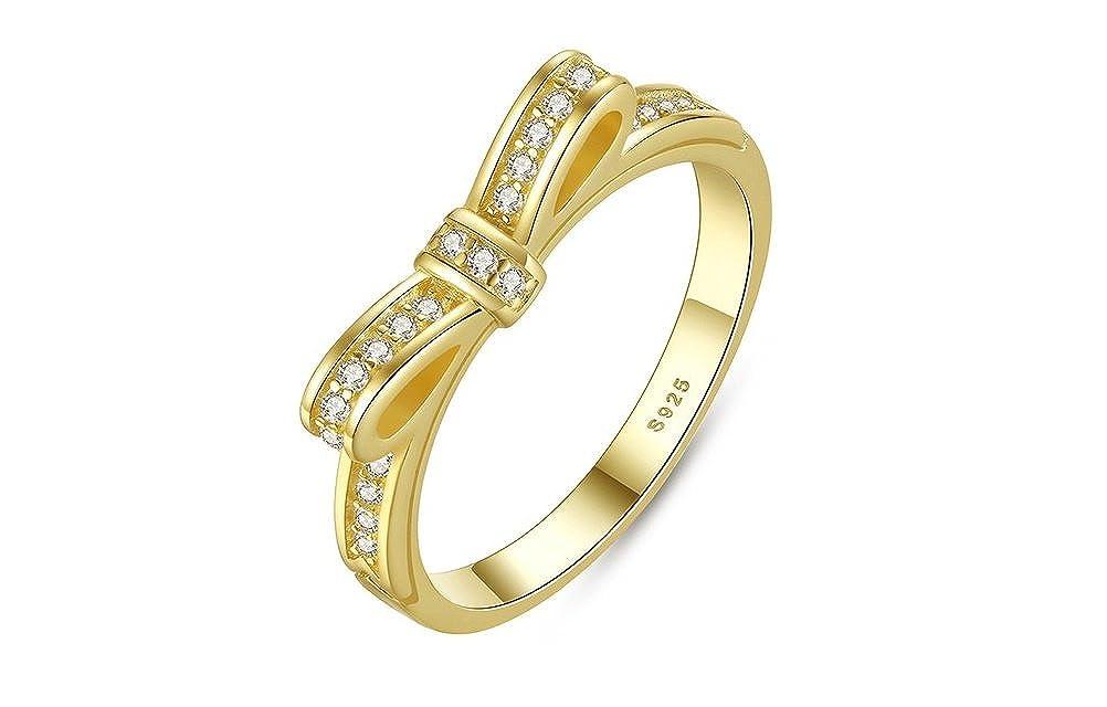 b2c7a90993a1 Amazon.com  Dixey Luxury Anillos Sortijas Oro 18k de Compromiso Aniversario Matrimonio  Boda Plata Anel De Prata 925 Joyeria Fina para Mujer  Jewelry