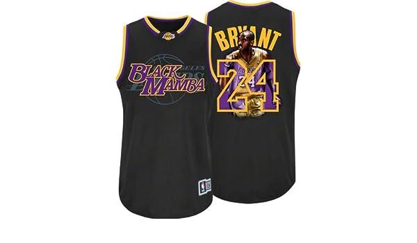 121c1156b15 Amazon.com   NBA Men s Los Angeles Lakers Kobe Bryant  24 Notorious Jersey ( Black Purple Gold