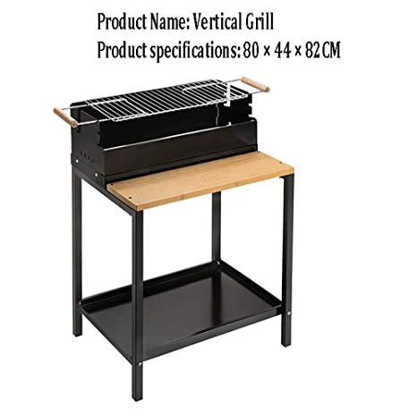 YHBH Parrilla Vertical Plegable para Asar Barbacoa: Amazon ...