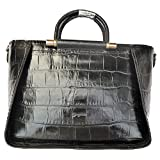 Daimanbo Women Crocodile Grain Delicate Stylish Imported Real Leather Handbag