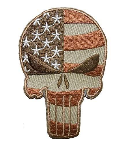 Punisher-Skull-USA-Flag-Tactical-US-Army-ISAF-Desert-Hero-Veteran-Morale-VELCRO-PATCH