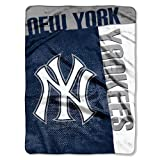 New York Yankees 60''x80'' Royal Plush Raschel Throw Blanket - Strike Design