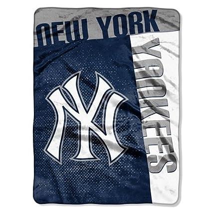 Amazon New York Yankees 40''x40'' Royal Plush Raschel Throw Stunning Yankees Throw Blanket