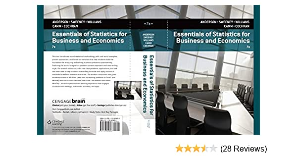 Amazon essentials of statistics for business and economics amazon essentials of statistics for business and economics ebook david r anderson dennis j sweeney thomas a williams jeffrey d camm fandeluxe Images