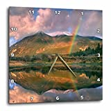 3dRose Danita Delimont - Rainbows - Rainbow over Twin Lakes and Sawatch Range, Colorado, USA - 15x15 Wall Clock (dpp_259141_3)
