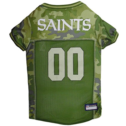 NFL New Orleans Saints Camouflage Dog Jersey, Large. - CAMO PET Jersey Available in 5 Sizes & 32 NFL Teams. Hunting Dog Shirt ()