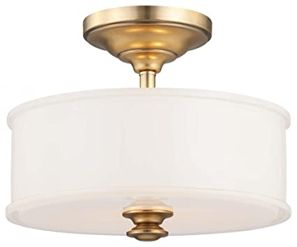 Minka lavery 4172 249 2 light semi flush liberty gold finish