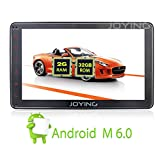 JOYING 8 inch Android 6.0 Marshmallow Car Radio Single One Din Stereo In Dash Touch Screen Quad Core GPS Sat Nav Support Wifi Bluetooth RDS OBD2 Mirrorlink Steering Wheel Control Backup Camera