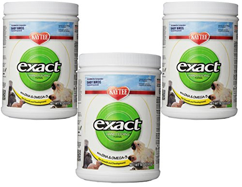 (3 Pack) Kaytee Exact Hand Feeding for Baby Bird, 18-Ounce each (Kaytee Formula)