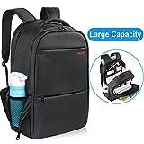 Black Laptop Backpack, Kuprine Lightweight Business Laptop Backpack for Men Women Rainproof College