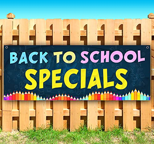 (Back to School Specials 13 oz Heavy Duty Vinyl Banner Sign with Metal Grommets, New, Store, Advertising, Flag, (Many Sizes)