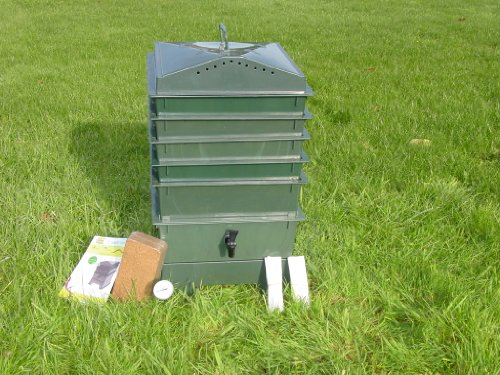 5-Tray-Worm-Compost-Bin-with-Free-Thermometer-and-Coconut-Fiber-Mat-Dark-Green