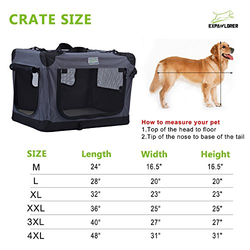 Collapsible-Foldable-Dog-Crate-Indoor-Outdoor-Soft-Pet-Home-24-Inch-to-48-Inch-by-EXPAWLORER