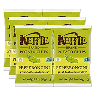 Kettle Brand Potato Chips, Pepperoncini, 2 Ounce Bags (Pack of 6)