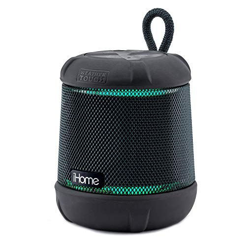 - iHome iBT155 Bluetooth Speaker Weather Tough Color Changing Waterproof Portable Wireless Speaker with Built-in Passive Subwoofer