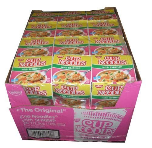 - Nissin the Original Cup Noodles with Shrimp Twenty-four 2.5 Ounce Ramen Cups
