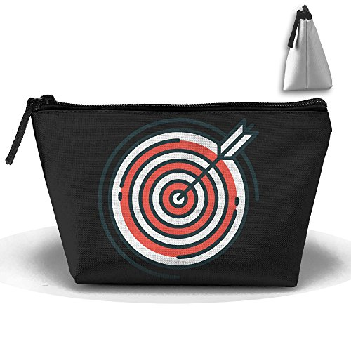 Vintage Style Target Makeup Bag Storage Portable Travel Wash Tote Zipper Wallet Handbag Carry Case