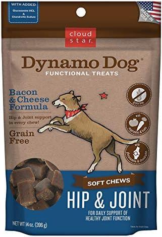 Cloud Star Dynamo Dog Hip Joint, Functional Soft Chews with Glucosamine, Chondrotin Grain Free