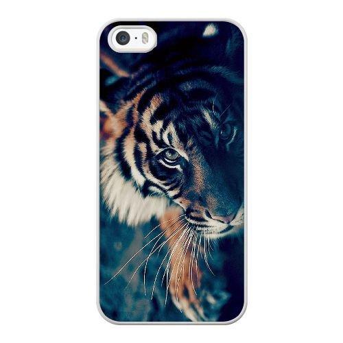 Custom Case for iPhone 4 4s White Bengal Tiger Face Closeup SDFJIOJEM7088 Bengal Tiger Close Up