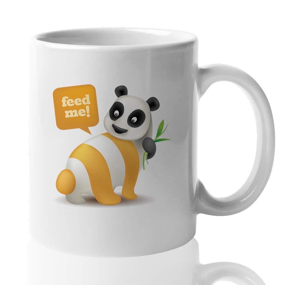 RSS Feed Coffee Mug - Feed Me - Cute Witty Fox Panda Zebra ...