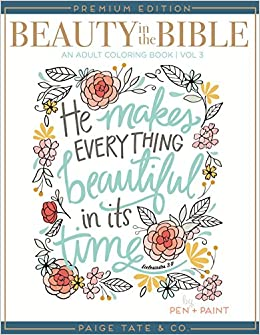 amazoncom beauty in the bible adult coloring book volume 3 premium edition christian coloring bible journaling and lettering inspirat - Christian Coloring Book