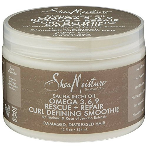 Omega 3 Repair (Shea Moisture Sacha Inchi Oil Omega 3, 6, 9 Resue + Repair Curl Defining Smoothie 12 oz)