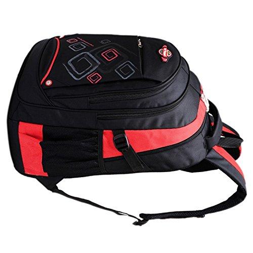 Tasche - SODIAL(R)Rucksack-Schulter-Schulwasserdichte Jungen-Maedchen-Kind-Schule-Reisetasche rot