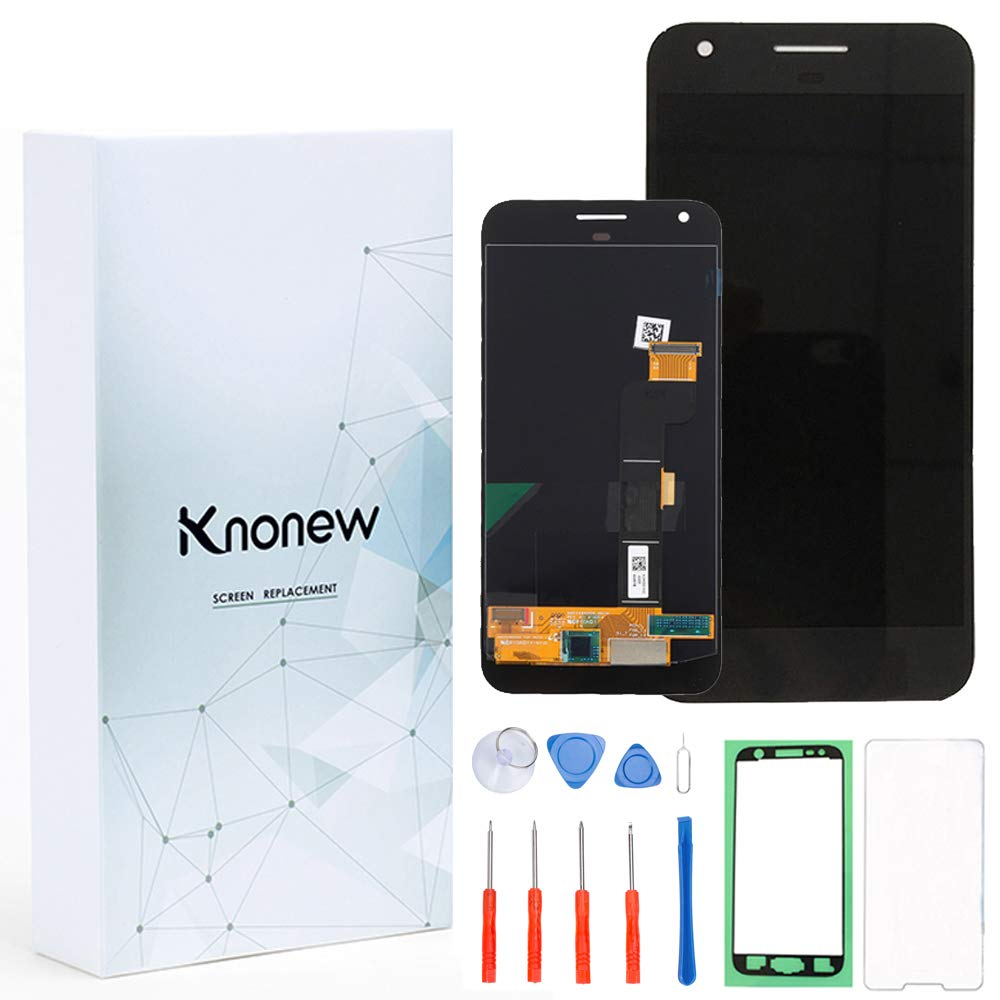 KNONEW Screen Replacement for Google Pixel XL Glass LCD Display Touch Digitizer Assembly + Tools(Black)