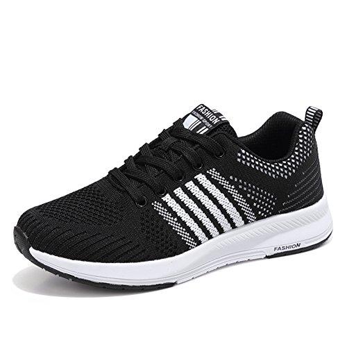 Ligero para de de Sneakers Mujer Negro Deportivos Running Zapatillas Gimnasia APxq5ga