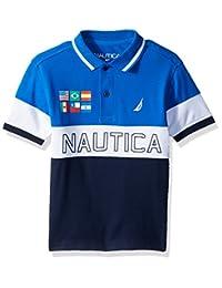 Nautica Boys Short Sleeve Colorblock Deck Shirt
