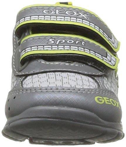 Geox B Runner B - Primeros Pasos de cuero Bebé - niño gris - Gris (Grey/Lime)