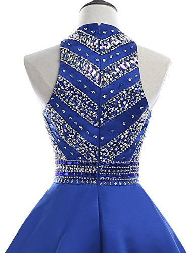 Women's Dresses HEIMO Navy Sequined Gowns Short H212 Beaded Homecoming Prom Sparkly dqIRxISwr