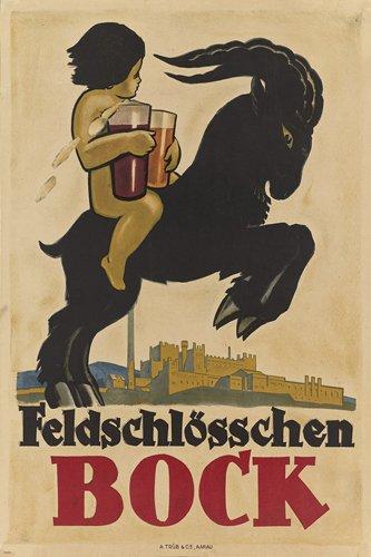 feldschlösschen BOCK vintage ad poster SWITZERLAND 24X36 beer collector/'s NEW
