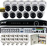 CIB Security H80P16K2T03W-12KIT-W 16CH 1080P Video Security DVR, 2TB HDD & 12×2.1-MP 1920TVL Night Vision Camera, White Review