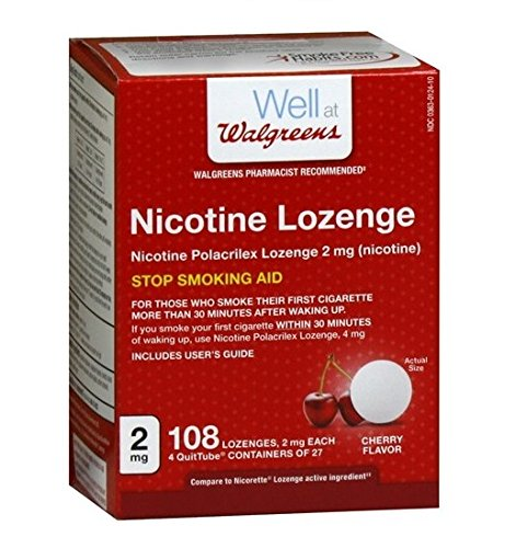 Walgreens Nicotine Lozenges 2mg, Cherry, 108 - Nicotine Replacement