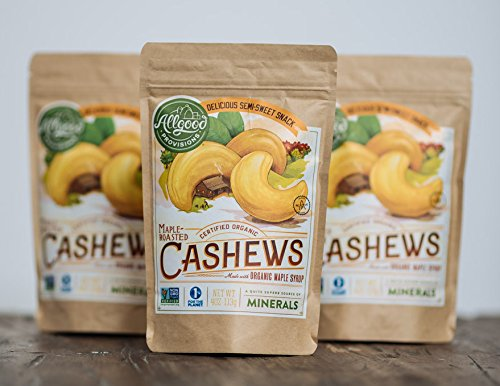 Organic Maple Roasted Cashews - 24 Pack (4oz EA) by Allgood Provisions