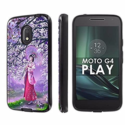 Motorola Moto G Play [4th Gen] Phone Case [NakedShield] [Black/Black] Dual Armor ShockProof Case - [Onegai Twin] for Moto [G4 (Motorola G Glass Covers)