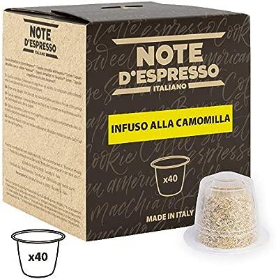 Note DEspresso - Cápsulas de manzanilla compatibles con cafeteras Nespresso, 2 g (caja de 40 unidades)