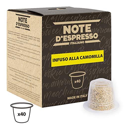 Note D Espresso Capsulas de Manzanilla compatibles con cafeteras Nespresso - 40 Unidades de 2g, Total 80 g